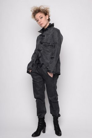 Jacket short Relieve coated