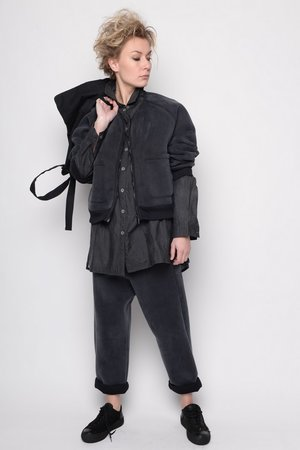 Jacket Splendid black scuba original