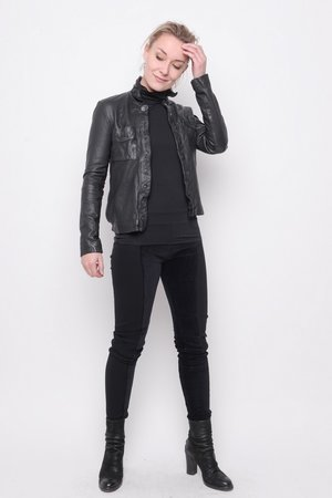 Jacket Unit leather black