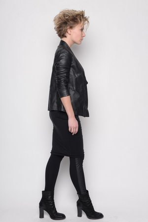 Pant Incredible black leather legging cotton