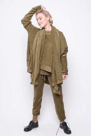 Pant Involved towel cotton olive