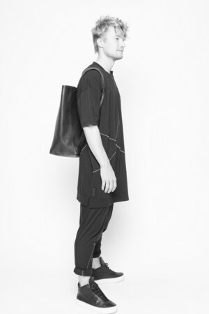 Backpack Shopper Unusual leather black