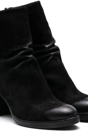 Kenna waxed suede black leather TLC1695