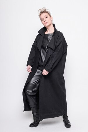 Long Jacket Realistic black print