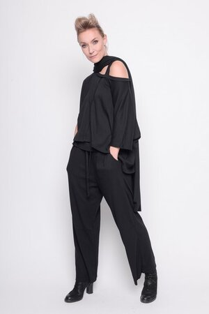 Top I Know Better rib cotton black