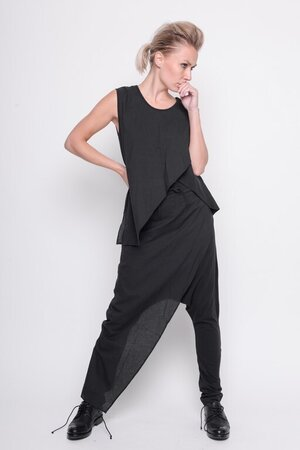 Top Let us dance modal jersey plain black