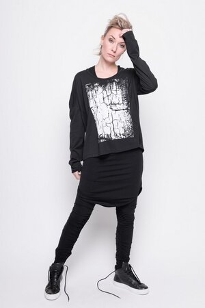 Top Tracks sport cotton black print