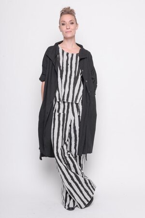 Top wild side woven cotton stripes