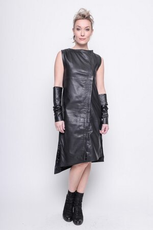 Tunic Why leather black