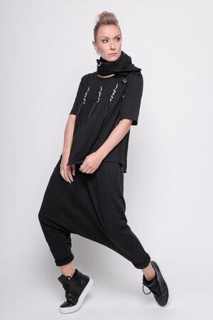 top keep the faith cotton black vapor stitch